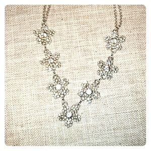Jewelry - Diamond snowflakes dbl chain necklace silver plate